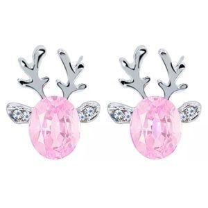 Gorgeous Crystal Reindeer Earrings